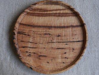 虫くい栗材のお盆285 #0319の画像