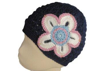 大きなお花の帽子の画像