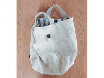 シンプル手提げbag 白の画像