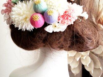 甘花 パステルカラーの髪飾り20点Set No788の画像