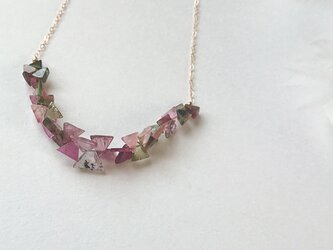 *triangle tourmaline necklaceの画像