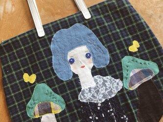(ご注文作品)女の子とキノコのバッグの画像