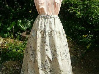 着物リメイク ティアード スカート(絹) 一点品裏付きの画像