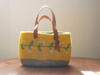 羊毛フェルトバッグ/春の黄の画像