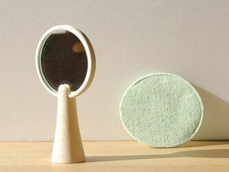 【朝からほっこり】広葉樹のような手鏡/単体/5カラー【DESK TOWN】の画像