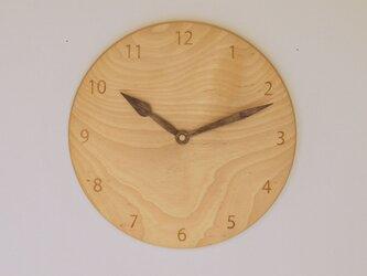 木製 掛け時計 丸 カバ材9の画像
