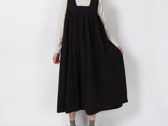 ヴィンテージダンプジャンバースカート(ブラック)の画像