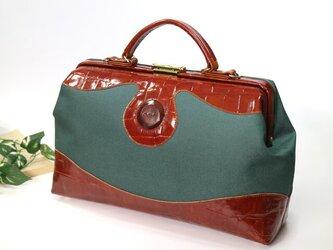 新作! ✦クラシック・ダレスバッグ TypeⅠ✦《クロコ型押し×帆布》の画像