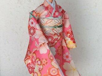 「夢之花園…桃色」28~30cmドール着物の画像