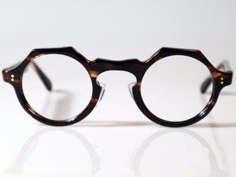 手作りセルロイド眼鏡045-SBSBの画像