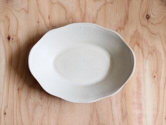 オーバル洋皿 大 白の画像