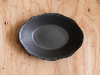 オーバル洋皿 大 黒の画像