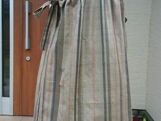 着物リメイク ふんわり優しいフレンチスリーブワンピース 絹。の画像