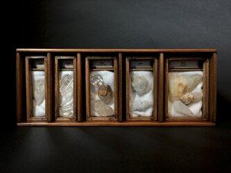 日本産地別水晶標本箱横型。の画像
