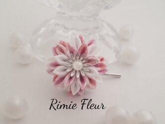 フラワーポニーフック(ピンクホワイト・ミニタイプ)の画像