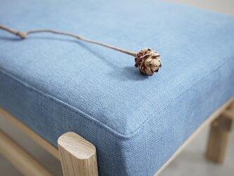 スツール/オットマン /オーク無垢材/oak/stool/ottoman/天然繊維/コットン/リネンの画像