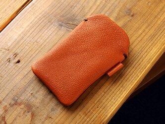 《RUSSETY》レザースリーブケース for iPod touch サドルブラウンの画像