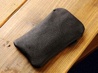 《RUSSETY》レザースリーブケース Wide iPhone・スマホケース ブラックの画像