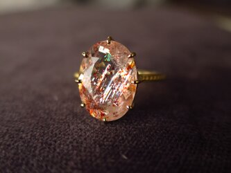 K18 Sunstone Ring の画像