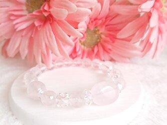桜咲く*ローズクォーツブレスレットの画像