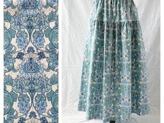 レディのためのティアードスカート:85cm(フロレアール:ウォーター)の画像