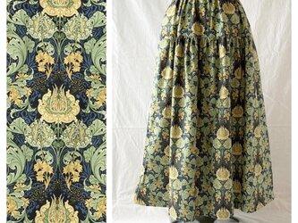 レディのためのティアードスカート:85cm(フロレアール:ネイビー)の画像