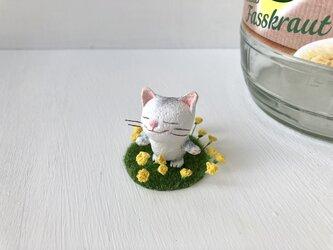 【再販】春を感じて猫さん グレートラ白 受注制作の画像