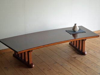 ケヤキ扇型座卓(中)の画像