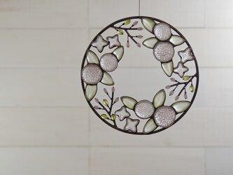 ガラスのリース[春の和花]Sの画像