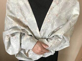 ヴィンテージ着物から紬のボレロ 母の日にの画像