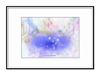 「星の涙に泪して」 星 ほっこり癒しのイラストA4サイズポスター No.775の画像
