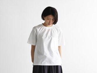 オーガニックコットン半袖リブプルオーバ(白)【ユニセックス】610の画像