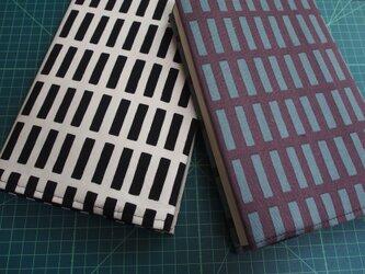 ブックカバー A5サイズ 格子柄の画像