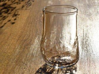 無色透明のグラス - 「KAZEの肌 」#392・ 高さ9.5cm●【 1点限定制作 】の画像
