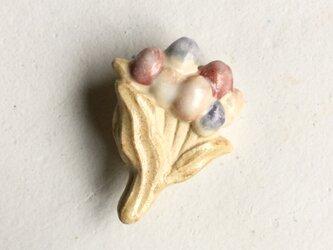 陶ブローチ ブーケ:mattの画像