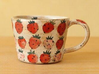 ※ Y様オーダー分ピンク地のイチゴのカップ。の画像
