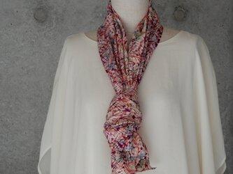 着物リメイク ロングスカーフ/板締め絞りの画像