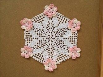 レース編み*花瓶敷きの画像