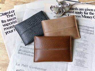 イタリア革のポケットティッシュケース/ブラウンの画像
