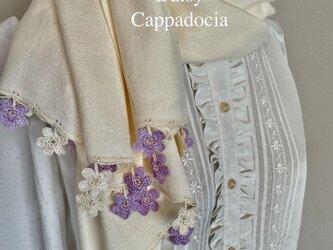 刺繍のお花つき パシュミナストール「マリー」クリームの画像