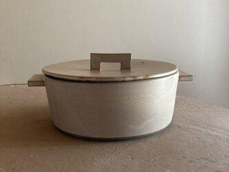 耐熱 土鍋M モカ(ブラウンベージュ)の画像