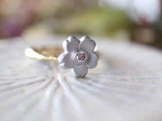 桜/ピンクダイヤモンド指輪の画像