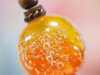 しゅわしゅわとんぼ玉のかんざし 黄色×オレンジの画像