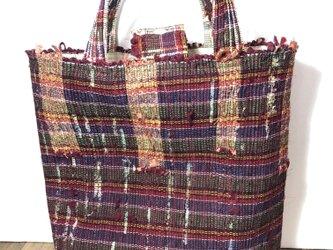 裂織り 手織り トートバッグ の画像