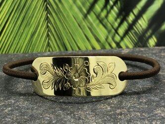 """Hawaiian Hair Tie Gold"""" 髪を結んでアロハな気分になる金色のヘアゴム""""の画像"""