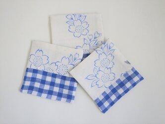 浴衣とリネンのコースター 桜の画像