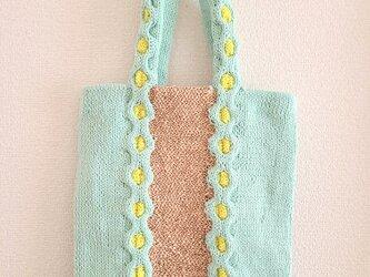 78.夏糸のなわ編みバッグ〈ハニカムフラット〉の画像