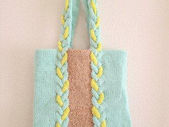 79.夏糸のなわ編みバッグ〈ミツアミフラット〉の画像