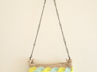 83.夏糸のなわ編みバッグ〈ツイストショルダー〉の画像