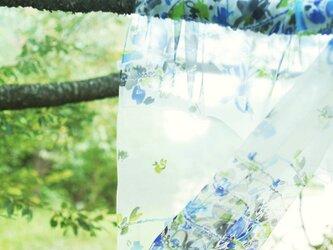 sakira風の庭シルクストール  カフェブラン・ブルー  SS-S0038BUの画像